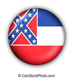 bouton, usa, drapeau état