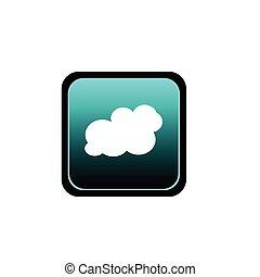 bouton, vecteur, art, nuage, illustration