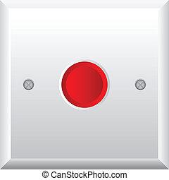 bouton, vecteur, illustration, rouges