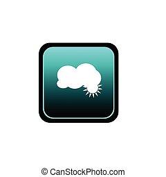 bouton, vecteur, nuage, illustration