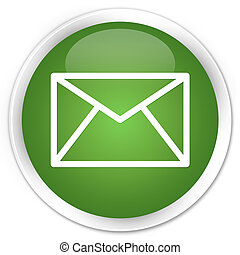 bouton, vert, email
