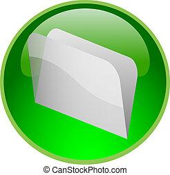 bouton, vert, fichier