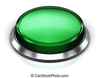 bouton, vert, rond