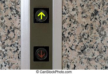 boutonner, ascenseur, signe