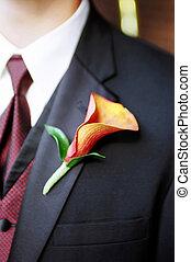 Boutonnière- Wedding Boutonni貥- Wedding - Detail shot of ...