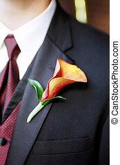 Boutonnière- WeddingBoutonni貥- Wedding - Detail shot of...
