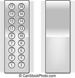 boutons, ascenseur