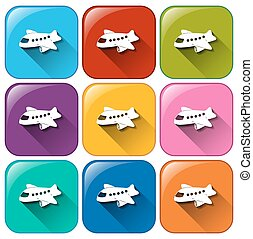 boutons, avions
