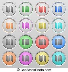 boutons, carte, plastique, couler