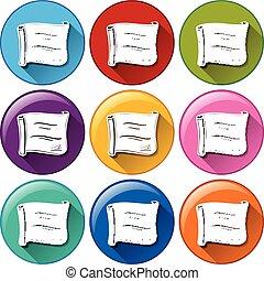 boutons, certificats