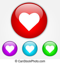 boutons, coeur