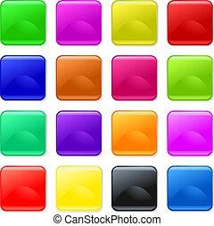 boutons, coloré, gel
