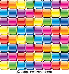 boutons, coloré, lustré, fond, seamless