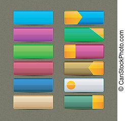boutons, coloré