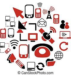 boutons, communication, 20