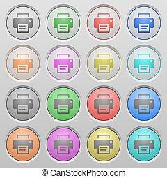 boutons, couler, imprimante, plastique