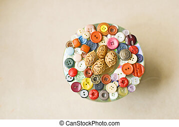 boutons, décoration, collection