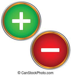 boutons, deux
