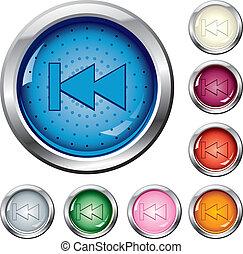 boutons, devant, -, dos, multi-coloré