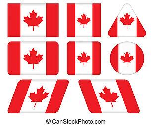 boutons, drapeau canada