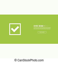 boutons, ensemble, chèque, vecteur, marques