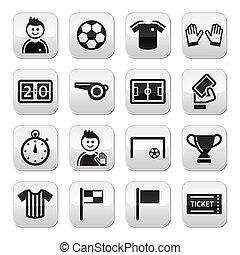 boutons, football football, vecteur, /