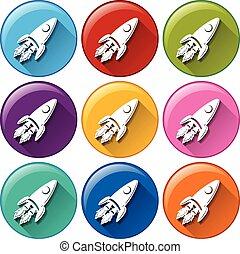 boutons, fusées