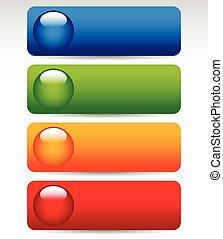 boutons, grand, coloré, clair