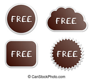 boutons, gratuite