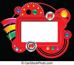 boutons, interface, résumé, écran