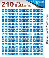 boutons, lustré, 210