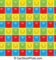 boutons, modèle, coloré, seamless, fond