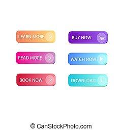 boutons, multi-coloré