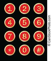 boutons, nombres