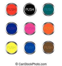 boutons, pour, mecanics