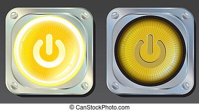 boutons, puissance