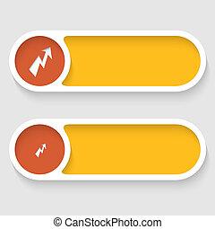 boutons, résumé, flash, vecteur