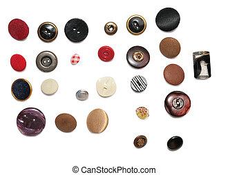boutons, rangées