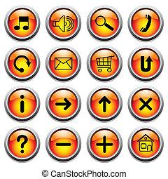 boutons, symbols.