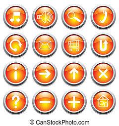 boutons, symbols., lustré
