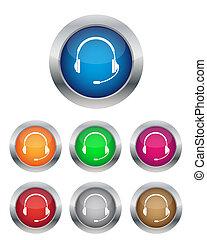 boutons, téléopérateur
