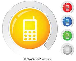 boutons, téléphone portable