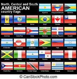 boutons, toile, drapeau