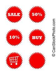 boutons, vente au détail, vente