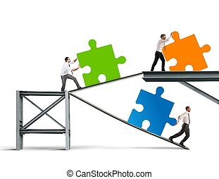 bouwen, een, nieuw, bedrijf