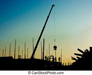 bouwpersoneel, werkende