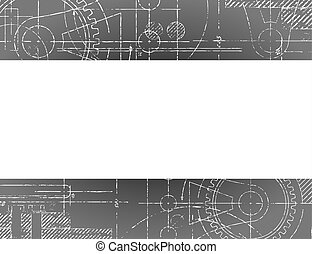 bouwschets, bord, spandoek