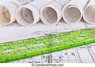 bouwschets, technisch, architecturaal