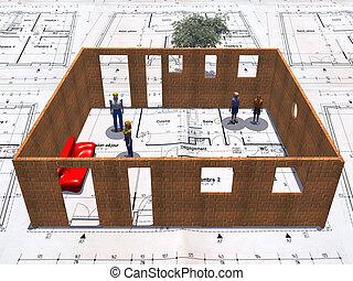 bouwschets, woning