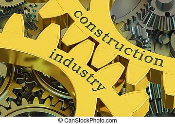 bouwsector, concept, op, de, toestellen, 3d, vertolking
